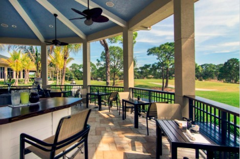 Willoughby Cabana viewing the golf course