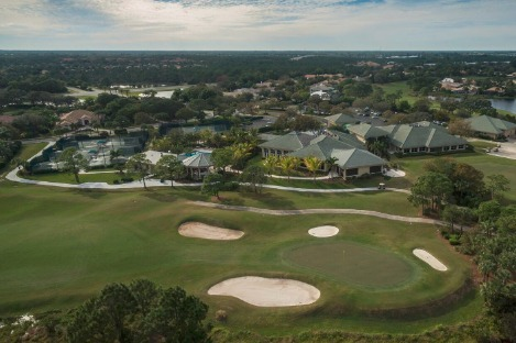 Willoughby Golf Club view of the course, tennis courts and pool